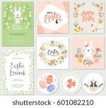 vector happy easter templates... | Shutterstock .eps vector #601082210
