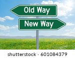 Two Green Direction Signs   Ol...
