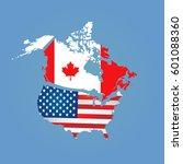 canada  usa   Shutterstock .eps vector #601088360