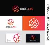 logo m letter circle sign...