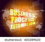 business process automation... | Shutterstock . vector #601089620