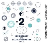 sacred geometry and numerology... | Shutterstock .eps vector #601089809