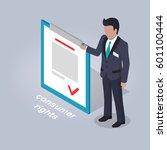 consumer rights representation. ... | Shutterstock .eps vector #601100444