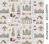 doodle vector germany berlin... | Shutterstock .eps vector #601100993