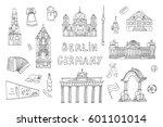 doodle vector germany berlin... | Shutterstock .eps vector #601101014
