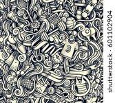 graphic sport hand drawn... | Shutterstock .eps vector #601102904