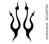vector tribal tattoo designs.... | Shutterstock .eps vector #601104704