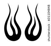 vector tribal tattoo designs.... | Shutterstock .eps vector #601104848
