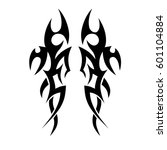vector tribal tattoo designs.... | Shutterstock .eps vector #601104884