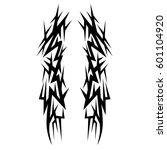 vector tribal tattoo designs.... | Shutterstock .eps vector #601104920
