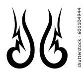 vector tribal tattoo designs.... | Shutterstock .eps vector #601104944
