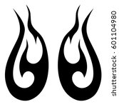 vector tribal tattoo designs.... | Shutterstock .eps vector #601104980
