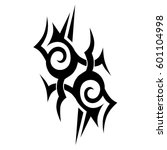 tattoo tribal designs. sketched ... | Shutterstock .eps vector #601104998