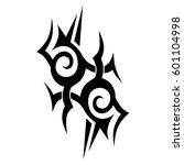 vector tribal tattoo designs.... | Shutterstock .eps vector #601104998