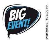 big event retro speech balloon | Shutterstock .eps vector #601109444