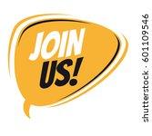 join us retro speech bubble | Shutterstock .eps vector #601109546