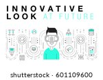 trendy innovation systems... | Shutterstock .eps vector #601109600