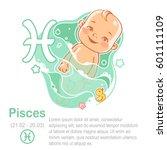children's horoscope icon. kids ... | Shutterstock .eps vector #601111109