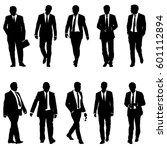 set silhouette businessman man... | Shutterstock .eps vector #601112894