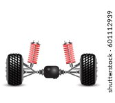 rear suspension of the car... | Shutterstock .eps vector #601112939