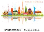 travel concept around the world ... | Shutterstock .eps vector #601116518