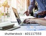 team work process. young... | Shutterstock . vector #601117553