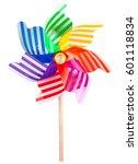 pinwheel toy windmill garden... | Shutterstock . vector #601118834