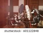 microphone in a recording studio | Shutterstock . vector #601122848