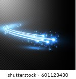 abstract vector glowing magic... | Shutterstock .eps vector #601123430