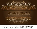 decorative frame with vintage... | Shutterstock .eps vector #601127630