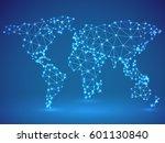 polygonal world map | Shutterstock . vector #601130840