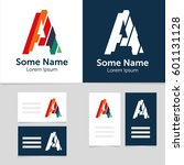 editable business card template ... | Shutterstock .eps vector #601131128