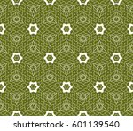 seamless floral lace pattern... | Shutterstock .eps vector #601139540