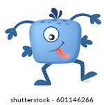 cute cartoon monster   Shutterstock .eps vector #601146266