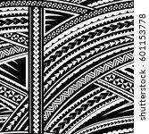 maori style tribal design....   Shutterstock .eps vector #601153778