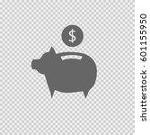 piggy bank vector icon eps 10.... | Shutterstock .eps vector #601155950