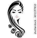 illustration of women long hair ...   Shutterstock .eps vector #601157810