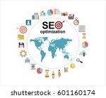 flat illustration web analytics ... | Shutterstock .eps vector #601160174