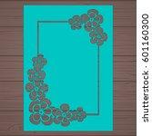 die cut card. laser cut vector... | Shutterstock .eps vector #601160300