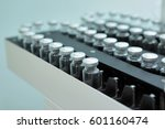 sterile bottles and ampoules on ... | Shutterstock . vector #601160474