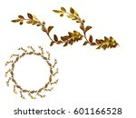 golden ornamental segment  ... | Shutterstock . vector #601166528