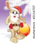 christmas rabbit | Shutterstock .eps vector #60116707