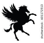 vector pegasus silhouette... | Shutterstock .eps vector #601172513