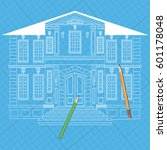 illustration with facade of... | Shutterstock .eps vector #601178048