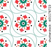 seamless tiled pattern of... | Shutterstock .eps vector #601178723