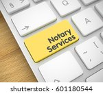 notary services   text on the... | Shutterstock . vector #601180544