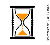 hourglass vector icon  isolated ... | Shutterstock .eps vector #601191566