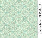 vector damask seamless pattern... | Shutterstock .eps vector #601193744