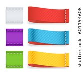 color label fabric blank vector....   Shutterstock .eps vector #601194608