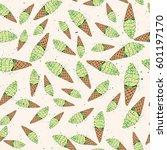 ice cream seamless pattern... | Shutterstock .eps vector #601197170